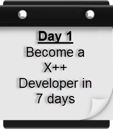 X++ in 7 days Part 1: Dev Tools