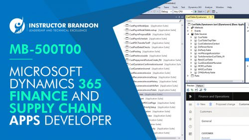 MB 500 Dynamics 365 developer training