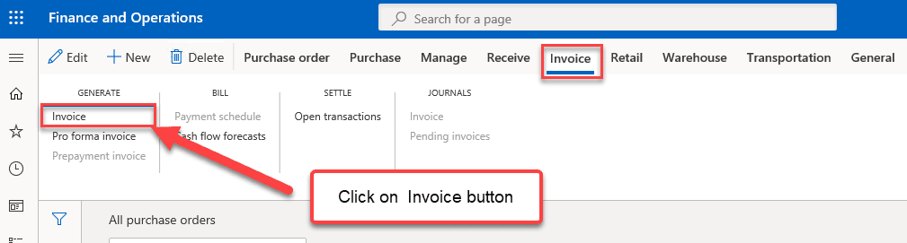 Purchase Order Invoice Posting - Step 2
