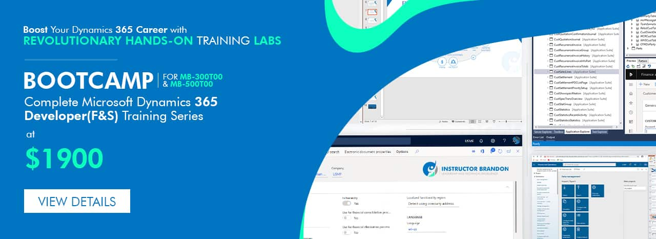 Dynamics 365 training courses