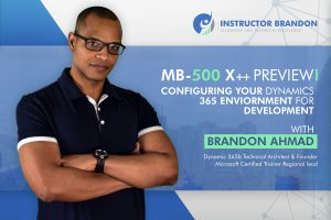 MB-500 X++ Developer Training Preview and Update Video