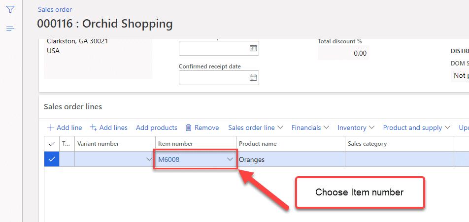 Dynamics 365 Sales Order - Step 5