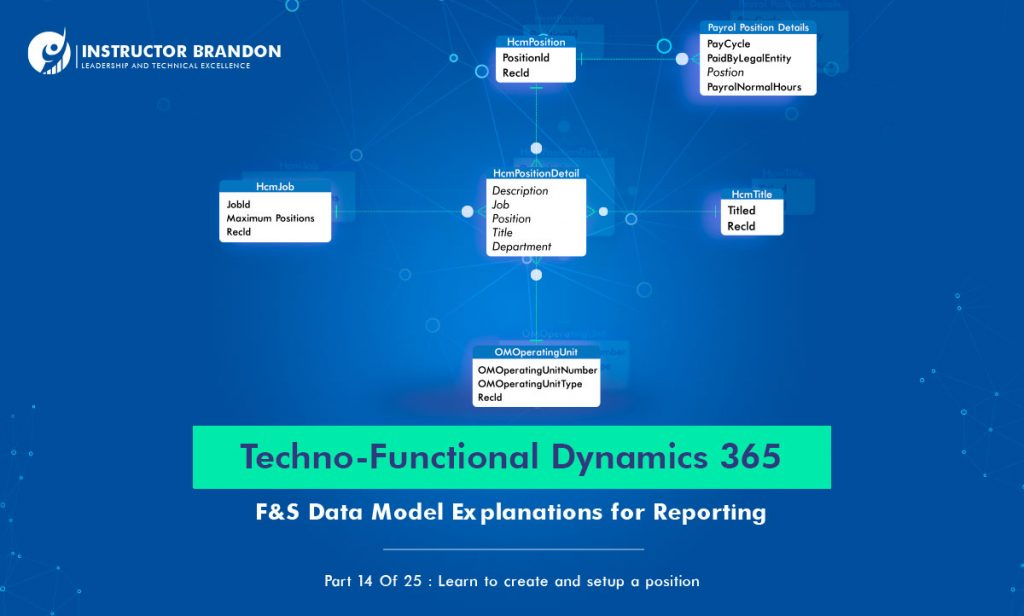D365 Position Creation Process Techno-functional F&S Part 14