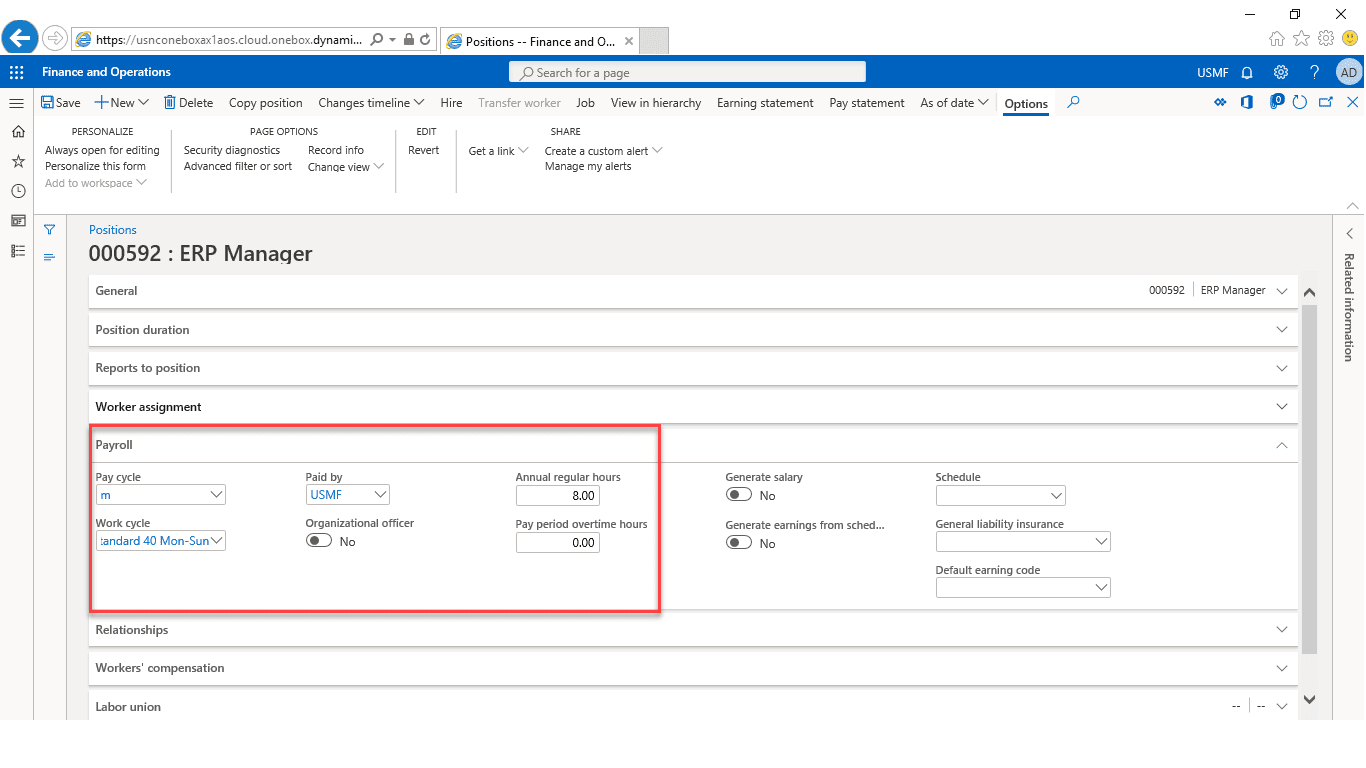 Techno-functional Dynamics 365 F&S Data Model, Part 14 of 25 – Position Creation Process