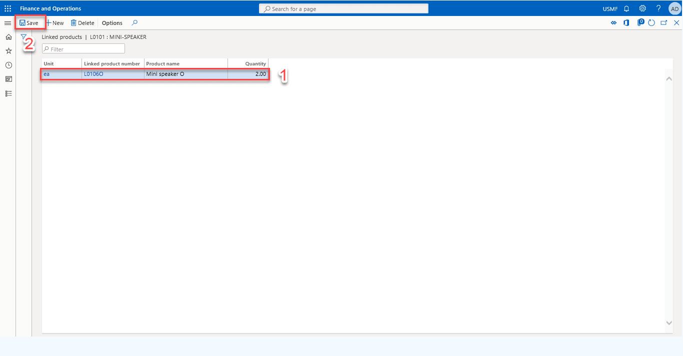 Configure Link Products Process D365