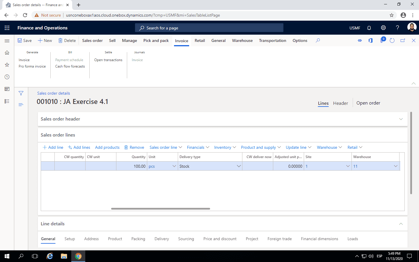 Step 3 Inventory Reservation Process in Dynamics 365