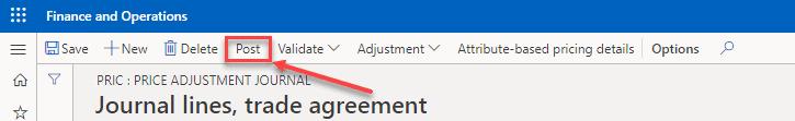 Post Trade Agreement Journal
