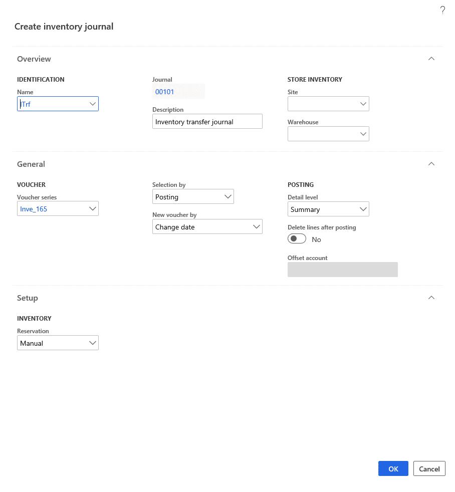 Step 4: Create Inventory Journal