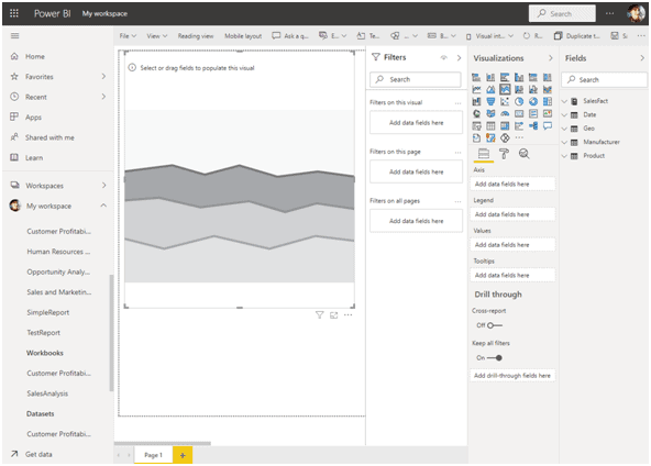 How to make Stacked Area Charts in Power BI?