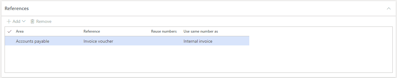 Image Showcasing the References Field in a Dynamics 365 Number Sequence Form