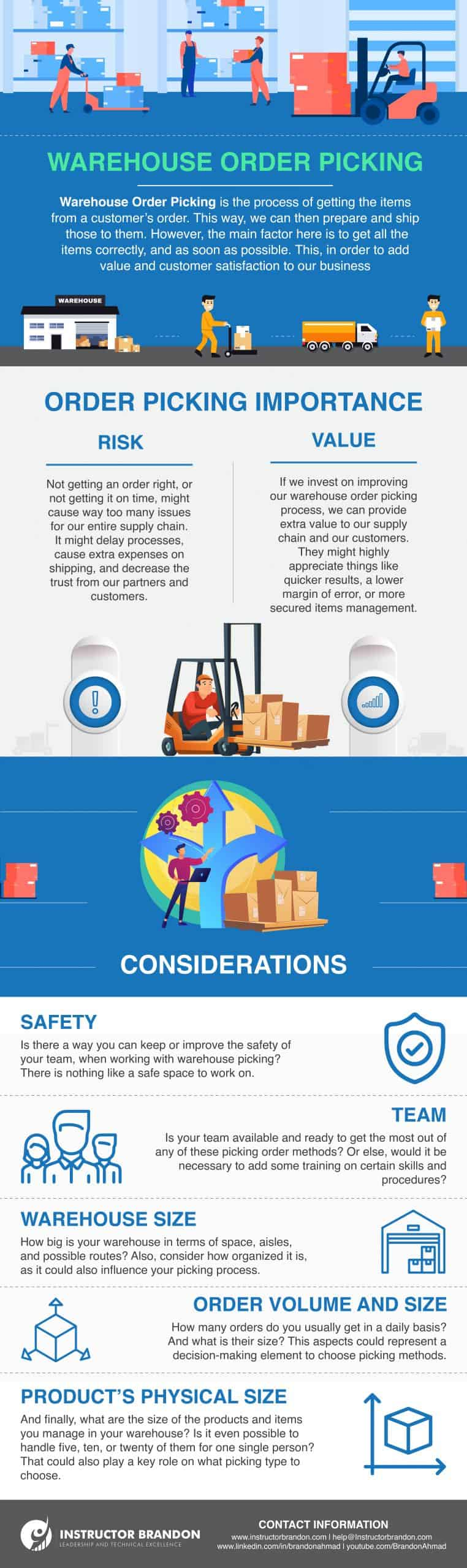 Pros and Cons of Warehouse Order Picking Methods
