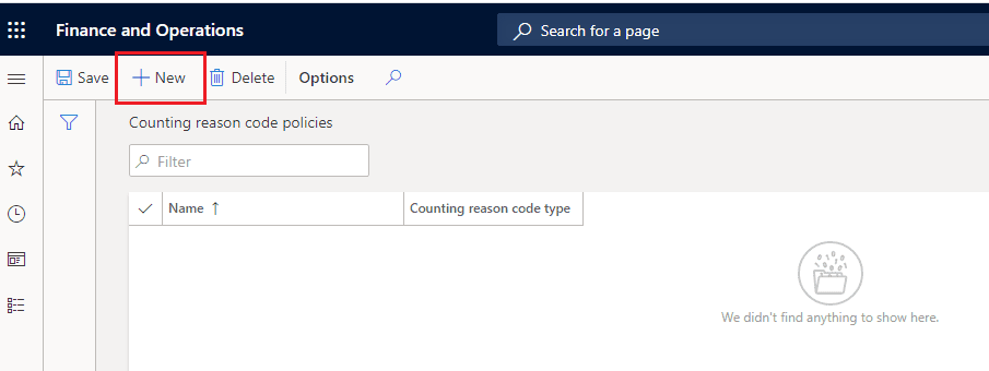 configure reason codes in d365 supply chain management