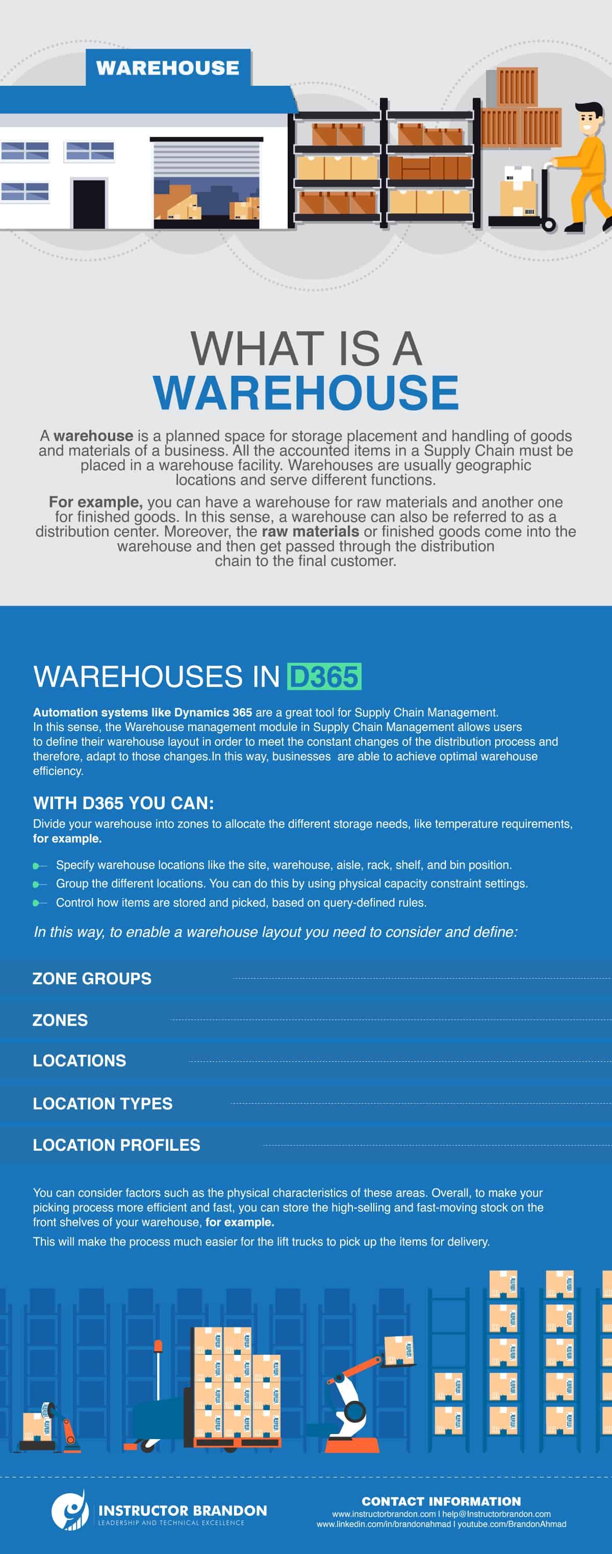 Warehouses in D365