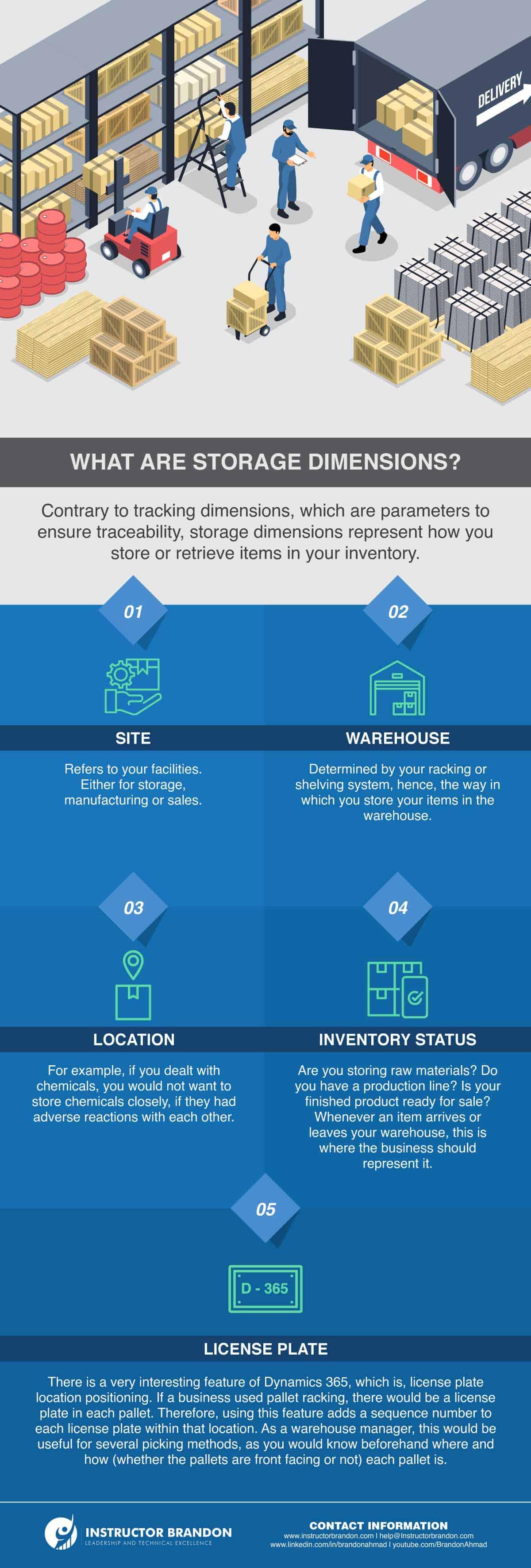 ms dynamics 365 storage dimension