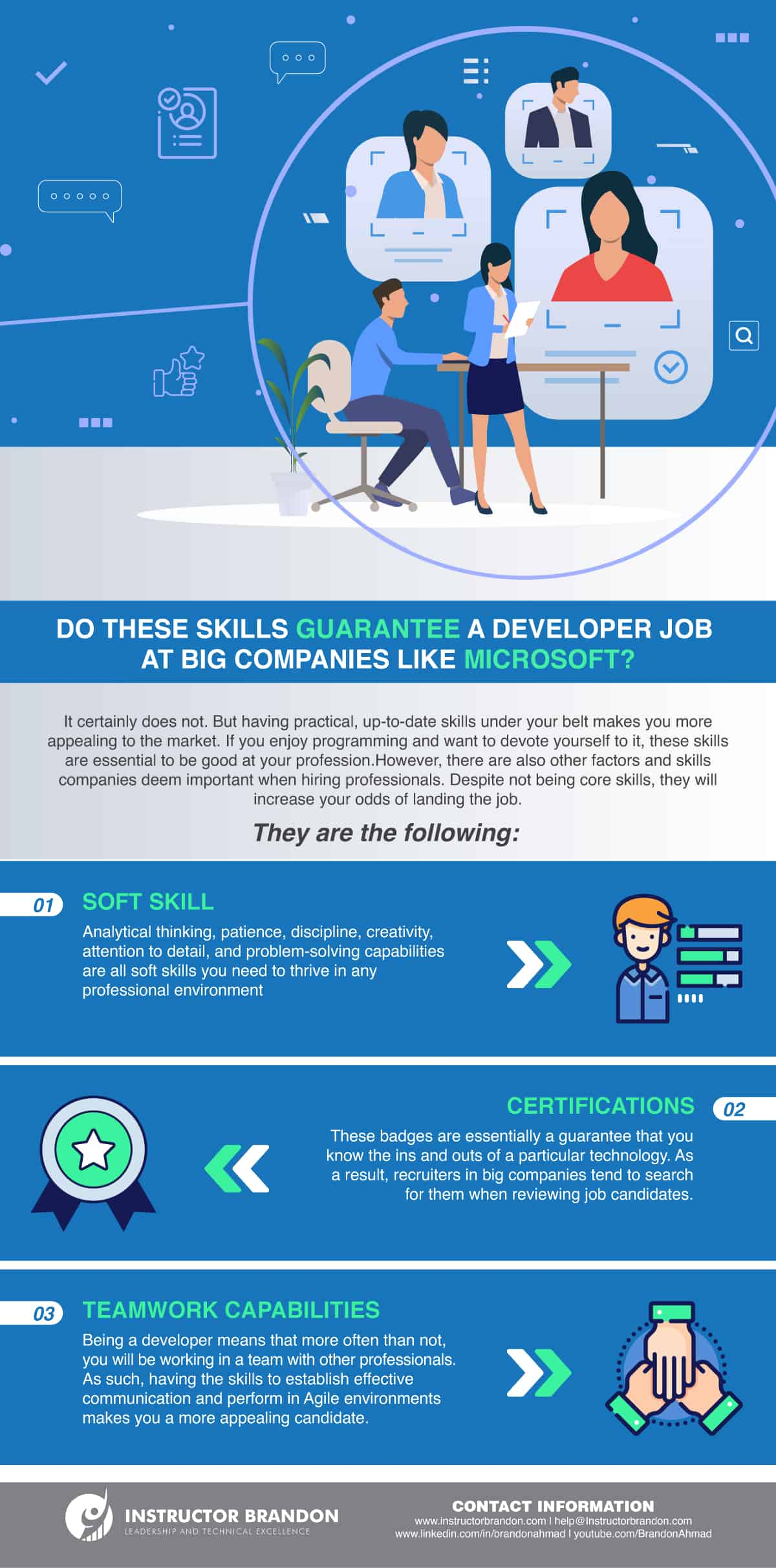 Infographic Showcasing Other Skills You Need to Become a Microsoft Developer